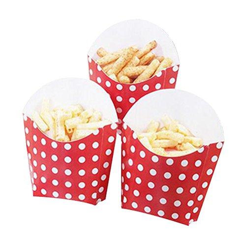 Black Temptation 12 PCS Geburtstagsfeier Supplies Popcorn Cups Food Boxes für Pommes/Zucker - A10