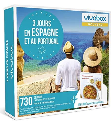 Vivabox - Coffret cadeau couple - 3 JOURS EN ESPAGNE ET AU PORTUGAL - 730 week-ends +...