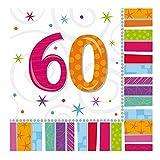 Servietten 60. Geburtstag Zahl 60 Geburtstagsfeier Geburtstagstisch Party Geburtstagsüberraschung