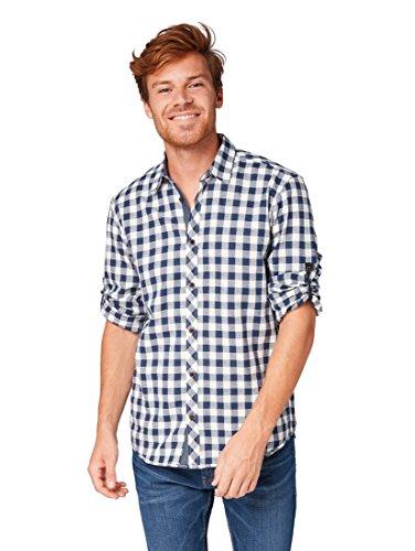 TOM TAILOR für Männer Blusen, Shirts & Hemden Kariertes Hemd Blue Check, XXXL