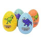 STOBOK 4 stücke Dinosaurier Eier mit Mini Dinosaurier Figuren neuheit Magic Crack Dinosaurier Brute Spielzeug innen für Kinder Stocking Stuffer (zufällige Muster)