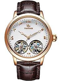 760cceb3d7c2 Amazon.es  reloj con mecanismo visible - Relojes de pulsera   Hombre ...