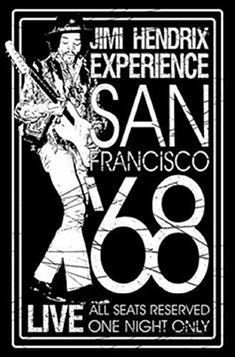 JIMI HENDRIX SAN FRANCISCO '68 Flagge/ flag