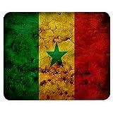 Flagge Senegal 1, Weltkarte, Designer Leder Mousepad Unterlage Mauspad Maus-Pad Stark Anti Rutsch Unterseite für Optimalen Halt mit Lebhaftes Motiv Kompatibel mit allen Maustypen (Kugel, Optisch, Laser)Ideal für Gamer und für Grafikdesigner.