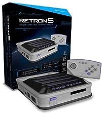 Retron 5 Spielkonsole (grau)inkl. Bluetooth Wireless Controller, HDMI-Kabel, Netzteil