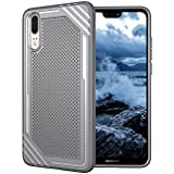 Huawei P20 Shell,Grey Back Shell Cover, Codream New Cool Durable Durable Anti-Scratch Protection Case Compatible With Huawei P20