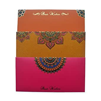 Amazon.in Gift Card - Gift Envelope | Yellow, Pink & Orange | Pack of 3 - Rs.1500