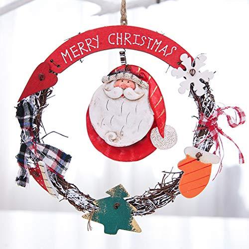 Vijtian - ghirlanda natalizia a forma di pupazzo di neve in ceramica, giocattolo di natale perfetto da appendere sull'albero di natale e