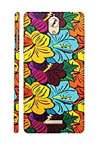 AMAN Colourful Flowers 3D Back Cover for Coolpad Mega 2 5D