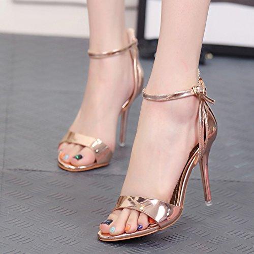 gut - sandalen, frauen, sommer, champagner, lace, lace, hochhackige schuhe, mode, schuhe, die schuhe, damenschuhe champagner