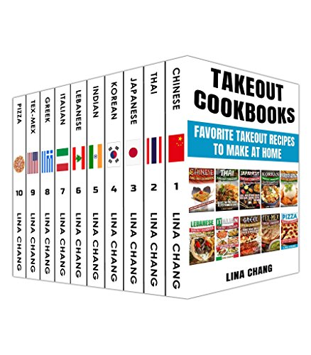 ox Set 10 books in 1! Favorite Takeout Recipes to Make at Home: 1. Chinese; 2. Thai; 3. Japanese; 4. Korean; 5. Indian; 6. Lebanese; ... 9. Tex-Mex; 10. Pizza (English Edition) ()