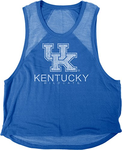 Blue 84 NCAA Kentucky Wildcats Damen Mara Premium Frottee Muscle Tank Shirt, Größe S, Königsblau