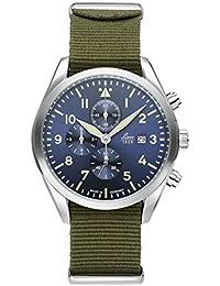 Laco 40mm Atlanta azul Dial Cronógrafo Reloj con 12horas totalizer 861919