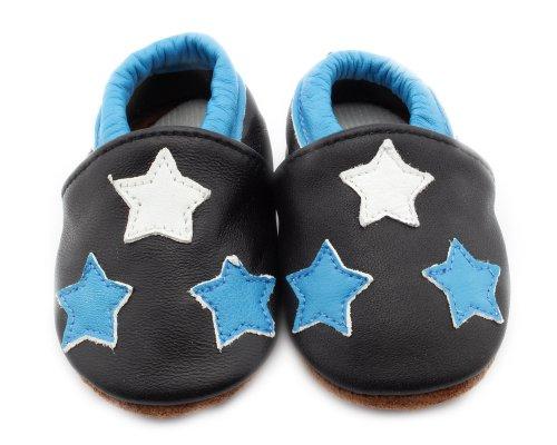Baby Schuhe Krabbelschuhe Kleinkinder Karikatur für Jungen oder Mädchen drei Sterne L