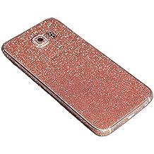 Para Samsung Galaxy, FAS1 Online con adhesivo brillo chispeante cuerpo película caso, rosa, S6 Edge+ G9280