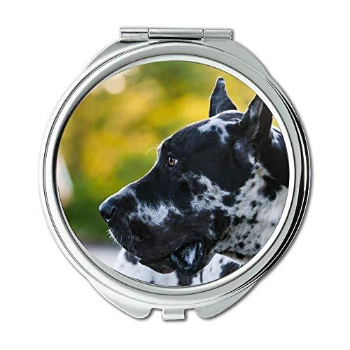 Yanteng Spiegel, Compact Spiegel, Chihuahua Dog Dogge Hund Dog Dog, Taschenspiegel, 1 X 2X Lupe