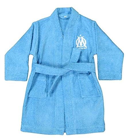 CTI 041152 Peignoir Imprimé Om Logo Bleu 10/12 ans