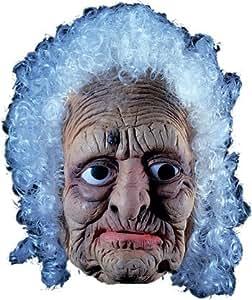 Vieille femme en latex Masque de cheveux