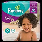 Pampers Premium Protection Active Fit Couches Taille 6 Extra Large, 15 plus kg Value Pack, 31, 1er Pack (1 x 31 pièces)
