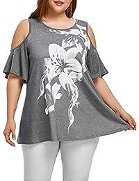 KanLin1986-Ropa Camisetas Mujer Verano Tops Mujer Verano Suelta Camisetas de Manga Corta Casual Tops