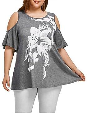 KanLin1986-Ropa Camisetas Mujer Verano Tops Mujer Verano Suelta Camisetas de Manga Corta Casual Tops Blusa Sin...