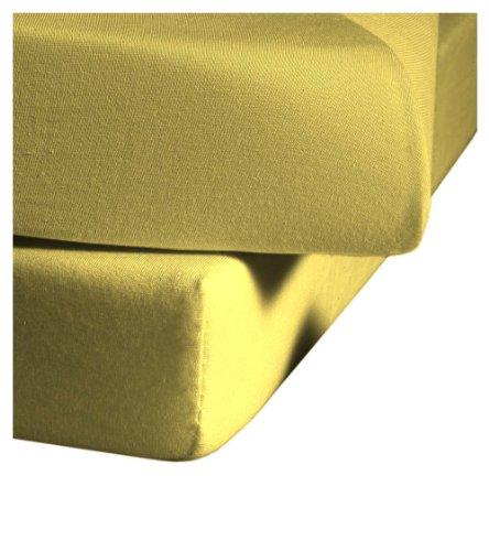 Juego de sábanas, algodón, 120 cm x 200 cm, Color Amarillo