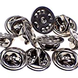 Fliyeong Butterfly Clutch Badge Pin Backs Keepers mit Blank Pins Butterfly Cap mit Pferd Dornnadel (10 Stücke)
