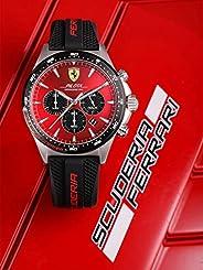 Ferrari Pilota Men's Red Dial Silicone Watch - 83