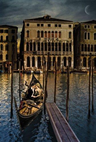 eLITe Venedig Italien Kanal Hut: Gondoliere Romance groß Art Poster 61x 91,5cm