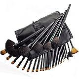 YSM Make-up Pinsel Set - 22pcs professionellen Kosmetik Make-up Pinsel-Set mit Ledertasche - für Lidschatten, Rouge, Concealer (Schwarz)