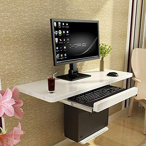 zyy Klapptisch Desktop-Lack Computertisch Dreiteiliger Anzug Wandmontage Computertisch Haushaltsregale Weiß Größe Optional Klappbarer Schreibtisch (größe : 100cm)