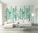 WH-PORP Wall Papers Home Decor Benutzerdefinierte 3D Tapete Modern Fashion Mint Green Frische Holz Nordic-200cmX140cm