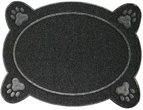 Knochen Form Futtermatte Wasserdicht Hund Katze Pet Premium Leicht zu reinigen Futter Mats Tablett rutschfeste Wasser Dish Tisch-Sets Futtermatte für Katze und Hund Schalen Einzigartige Paw Design