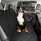 Car Seat Cover with Seat Anchors, Waterproof & Scratch Proof & Nonslip Back Seat Cover,Universal fits All Cars, Black