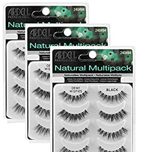 (3 Pack) ARDELL Professional Natural Multipack - Demi Wispies Black