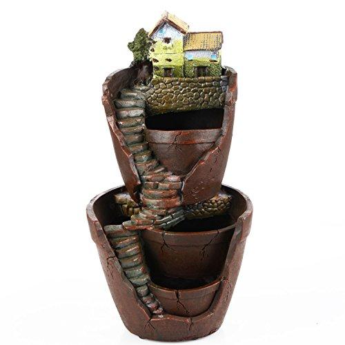 Warooma Pot de plantes double couche, pot de fleurs succulentes pour décoration de jardin de fées et de bonbons pour décoration de vacances et cadeau