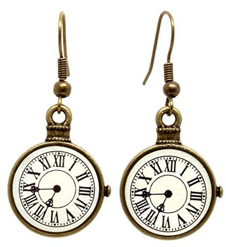 bluebubble-tick-tock-bronze-clock-dangle-earrings