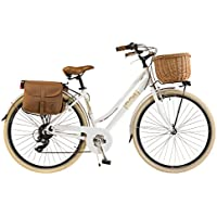 Via Veneto by Canellini Fahrrad Rad Citybike CTB Frau Vintage Retro Via Veneto Alluminium (Weiss, 46)
