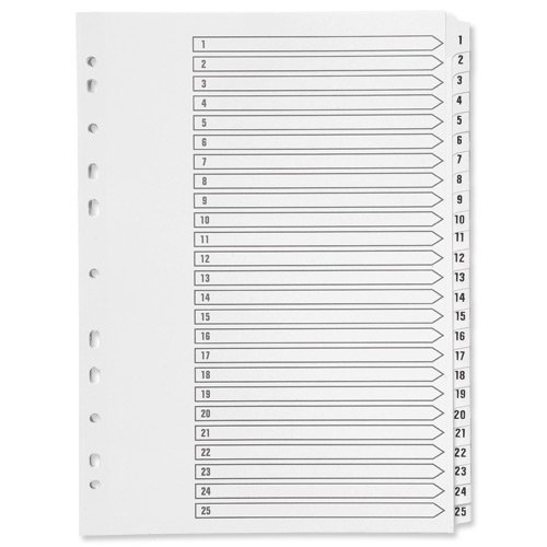 Q Connect 1-25 Mylar Register, A4.