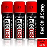 Newish : Powerful Red Chilli Spray Self Defence for Women Pack of 3 (Each : 55 ml / 35 gm)