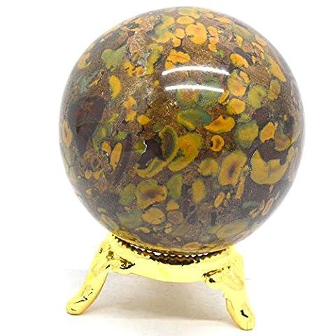 Heilung Kristalle Indien Natur Edelstein Kugel Ball Fancy Jaspis 40–50mm