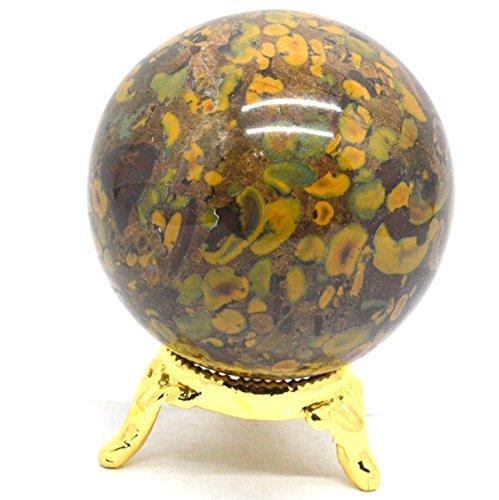Heilung Kristalle Indien Natur Edelstein Kugel Ball Fancy Jaspis 40-50mm