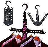 Auntwhale Kleiderbügel Schrank Komplette Multifunktions Dual Magie Faltbare Kleiderbügel für Kleidung Shirts Pullover Mantel Veranstalter Kleiderbügel Haken Wäscheständer