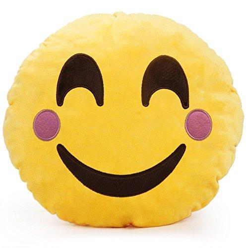 """minifamily® 32cm Emoji-Kissen Smiley Emoticon Kissen gefüllt """"Plüsch Weiches Spielzeug Puppe Geschenk Home Decor (niedliche)"""