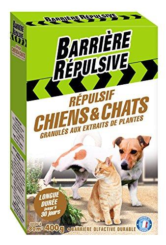BARRIERE REPULSIVE Granulés Répulsif Chiens et Chats, Action jusqu'à 30 jours, 400 g, CHIENGRA4