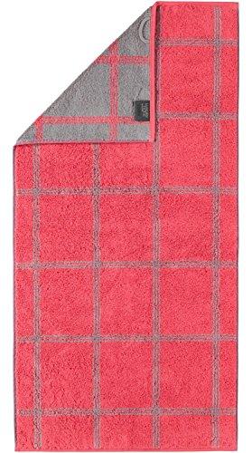 Cawö Luxury Home Saunatuch Two-Tone 604 | 27 Rot - 80 x 200