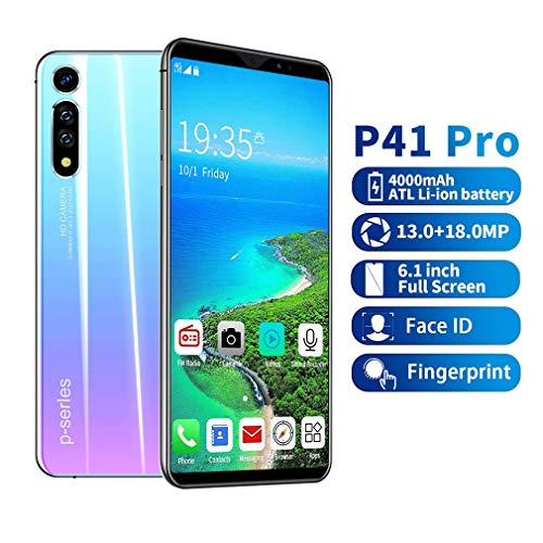 4G Smartphones, 6.1 Zoll Android 9.1 Dual SIM Handy, Triple Kamera 16MP+8MP+5MP, 3GB RAM, 64GB interner Speicher, Frontkamera und Face-Unlock Funktion,Grün