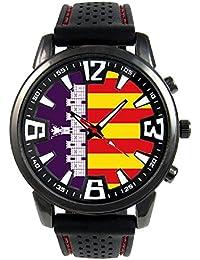 Mallorca España Reloj para hombre con correa de silicona