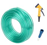 #3: Truphe Garden water pipe, garden Hose Water Pipe, PVC Pipe - 0.5 inch / 10 Meters garden pipe with 5 Way Water Sprayer and Hose Connector