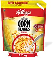 Kellogg's Corn Flakes Original, High in Iron, High in B Group Vitamins, Breakfast Cereals, 1.2 kg